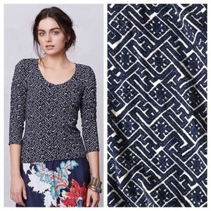 Anthropologie Dolan ruched french terry top
